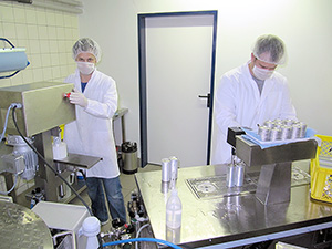 Filling of minimum product series under lab conditions